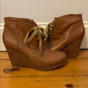 Lucky Brand Leather Booties - size 8